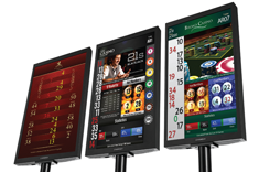 Cammegh displayfor roulette tables, winning number, roulette wheel, casino gaming equipment