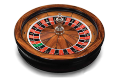 Photo of Cammegh roulette wheel, casino gaming equipment