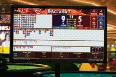 Photo of i-Score display for Baccarat
